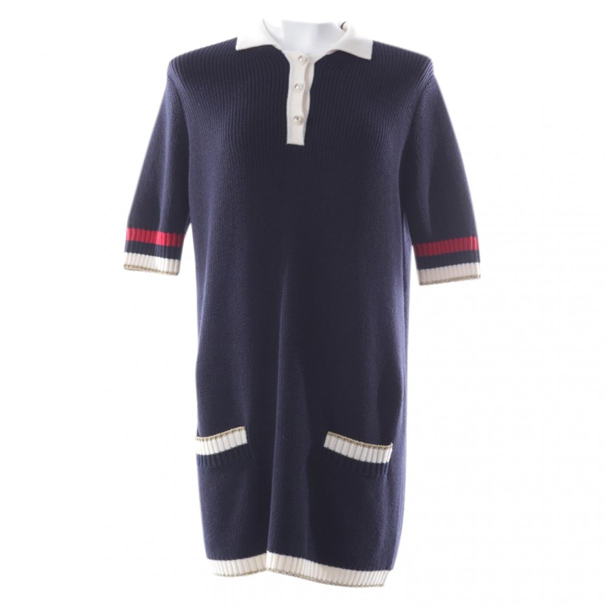 Gucci \N Kleid in  Marine Baumwolle