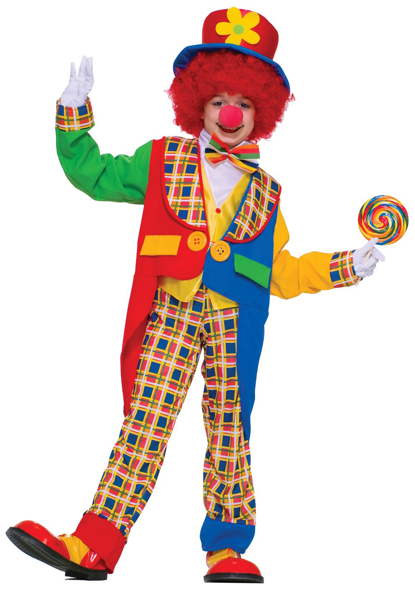 Colorful Clown Kid Costume