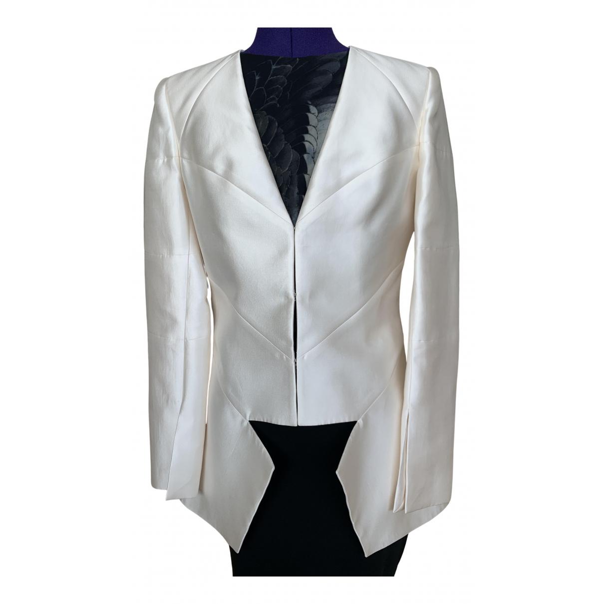 Prabal Gurung N White Silk jacket for Women 6 US