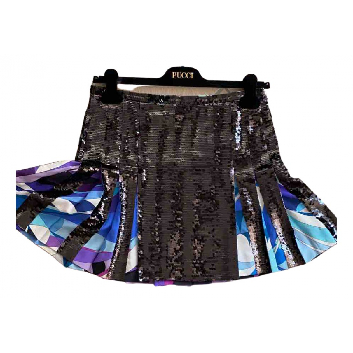 Emilio Pucci \N Black Silk skirt for Women 40 IT