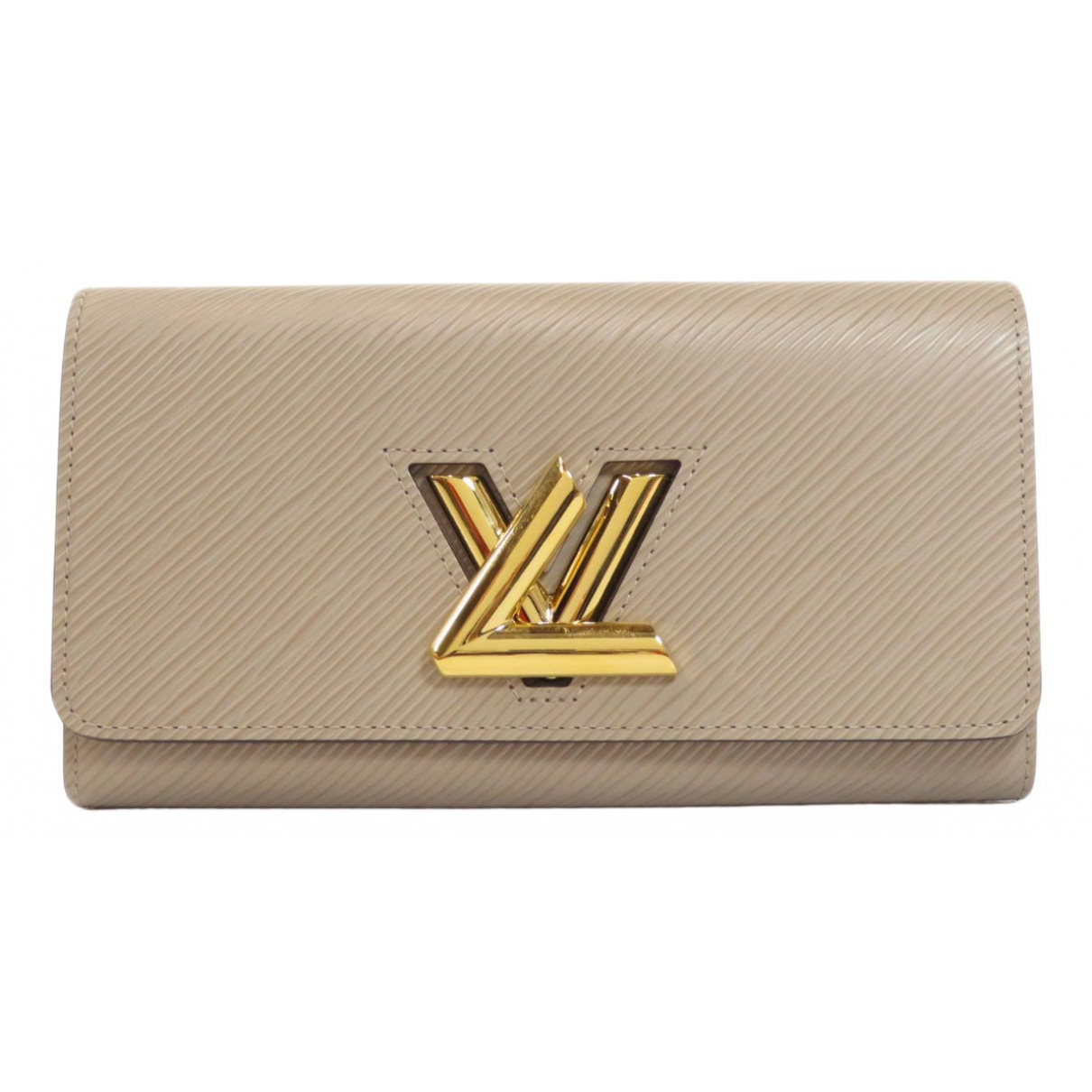 Louis Vuitton Twist Portemonnaie in  Beige Leder