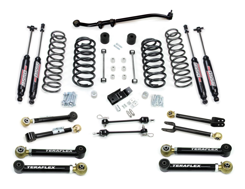 Jeep TJ/LJ 3 Inch Suspension System w/ 8 Flexarms and 9550 Shocks 97-06 Wrangler TJ/LJ TeraFlex 1456352