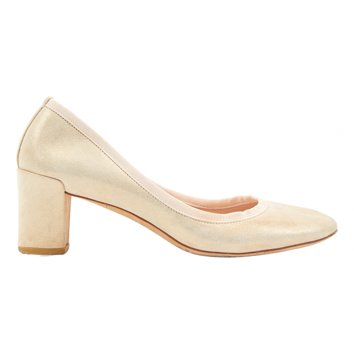 Repetto \N Pumps in  Gold Leder