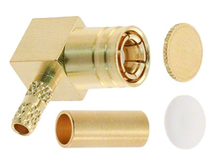 Molex , 73404 Right Angle 75Ω Cable Mount Coaxial Connector, Plug, Gold, Crimp Termination, RG179 (2)