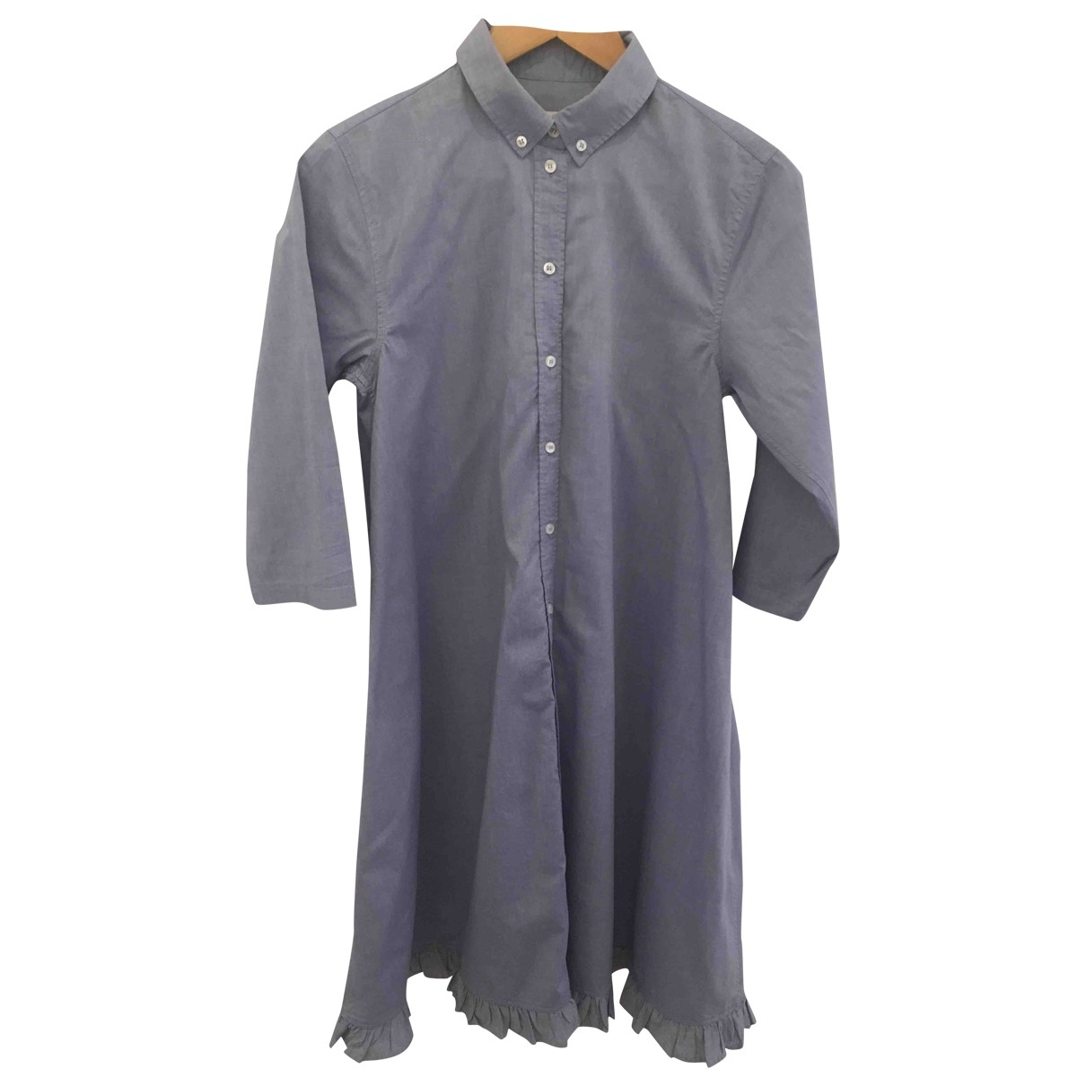 Mads Norgarrd Copenhagen \N Kleid in  Blau Baumwolle