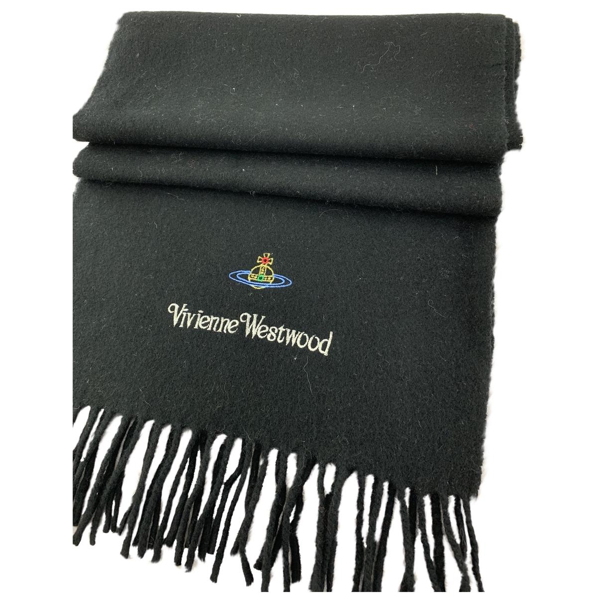 Vivienne Westwood - Foulard   pour femme en laine - noir