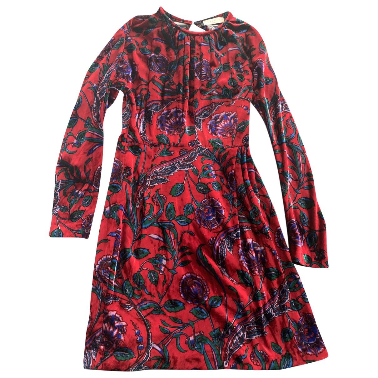 Sandro \N Red dress for Women 1 0-5
