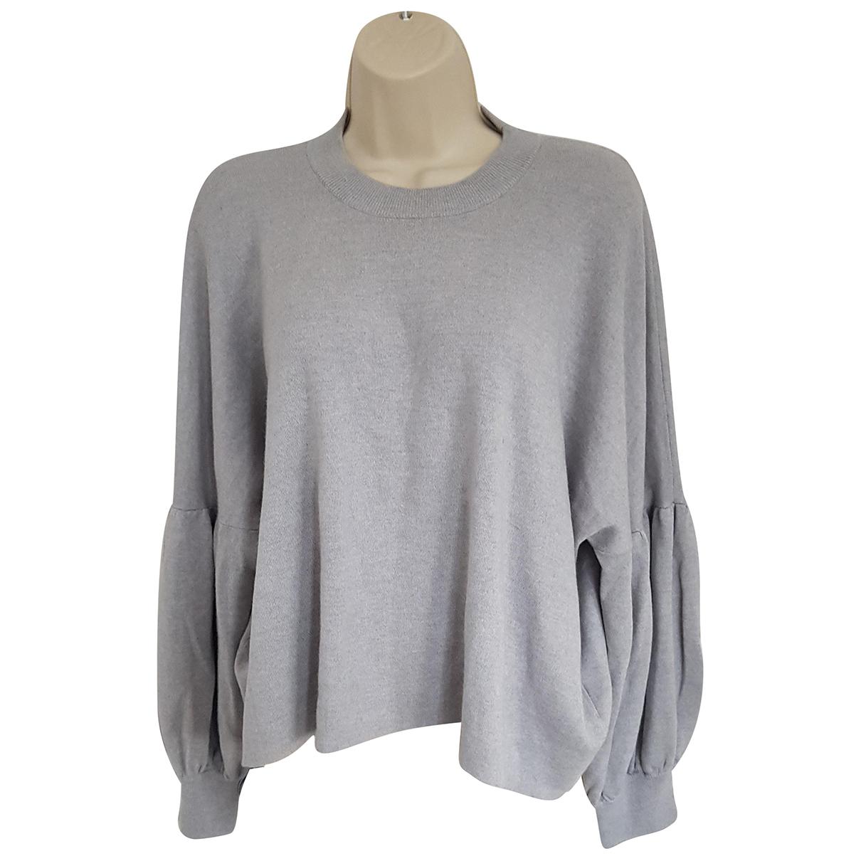 Tibi - Pull   pour femme en laine - gris
