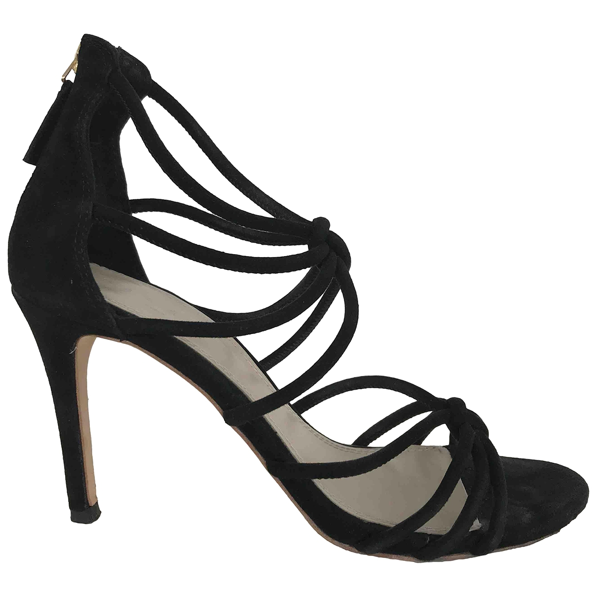 Sandro \N Black Leather Heels for Women 37 EU