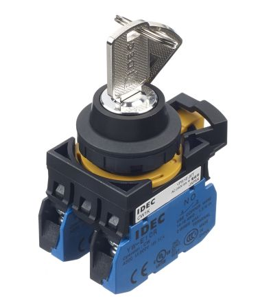Idec 3 Position Key Push Button - (2NO) 22mm Cutout Diameter