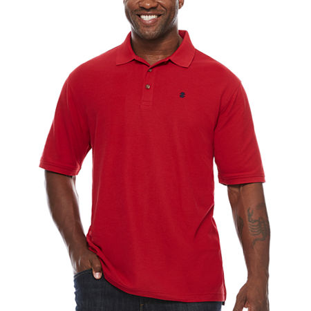 IZOD Mens Short Sleeve Polo Shirt Big and Tall, 2x-large Tall , Red
