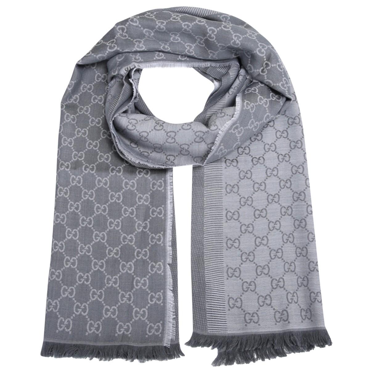 Gucci \N Grey Wool scarf for Women \N