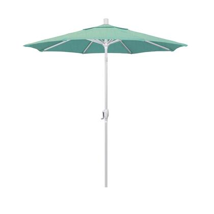 GSPT758170-48020 7.5' Pacific Trail Series Patio Umbrella With Matted White Aluminum Pole Aluminum Ribs Push Button Tilt Crank Lift With Sunbrella 1A