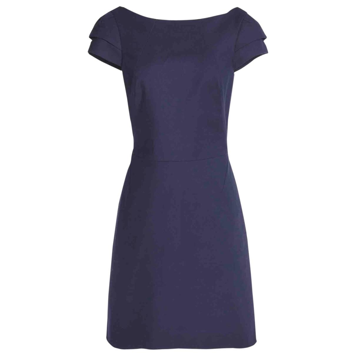 Halston Heritage - Robe   pour femme en coton - elasthane - marine