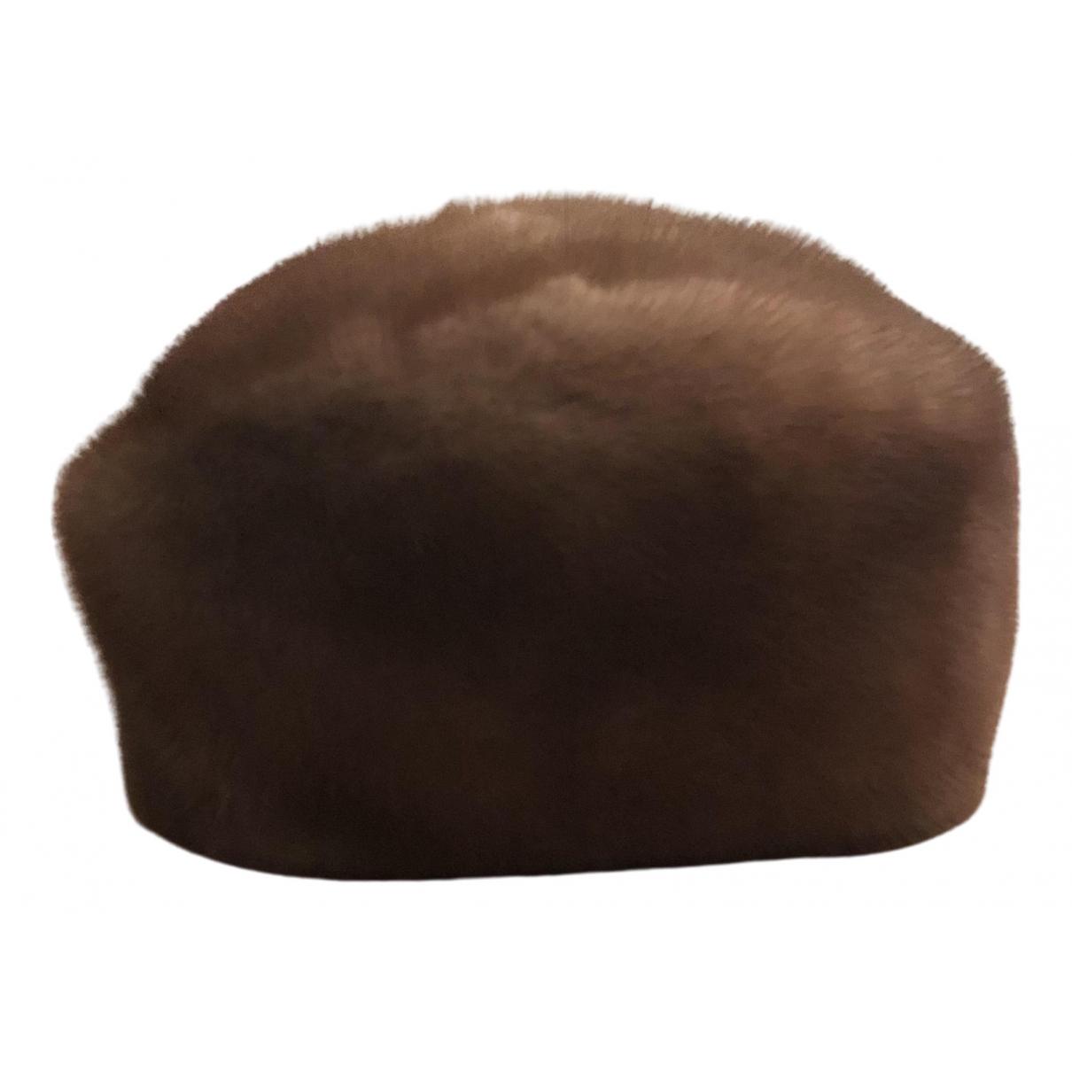 - Chapeau   pour femme en vison - camel