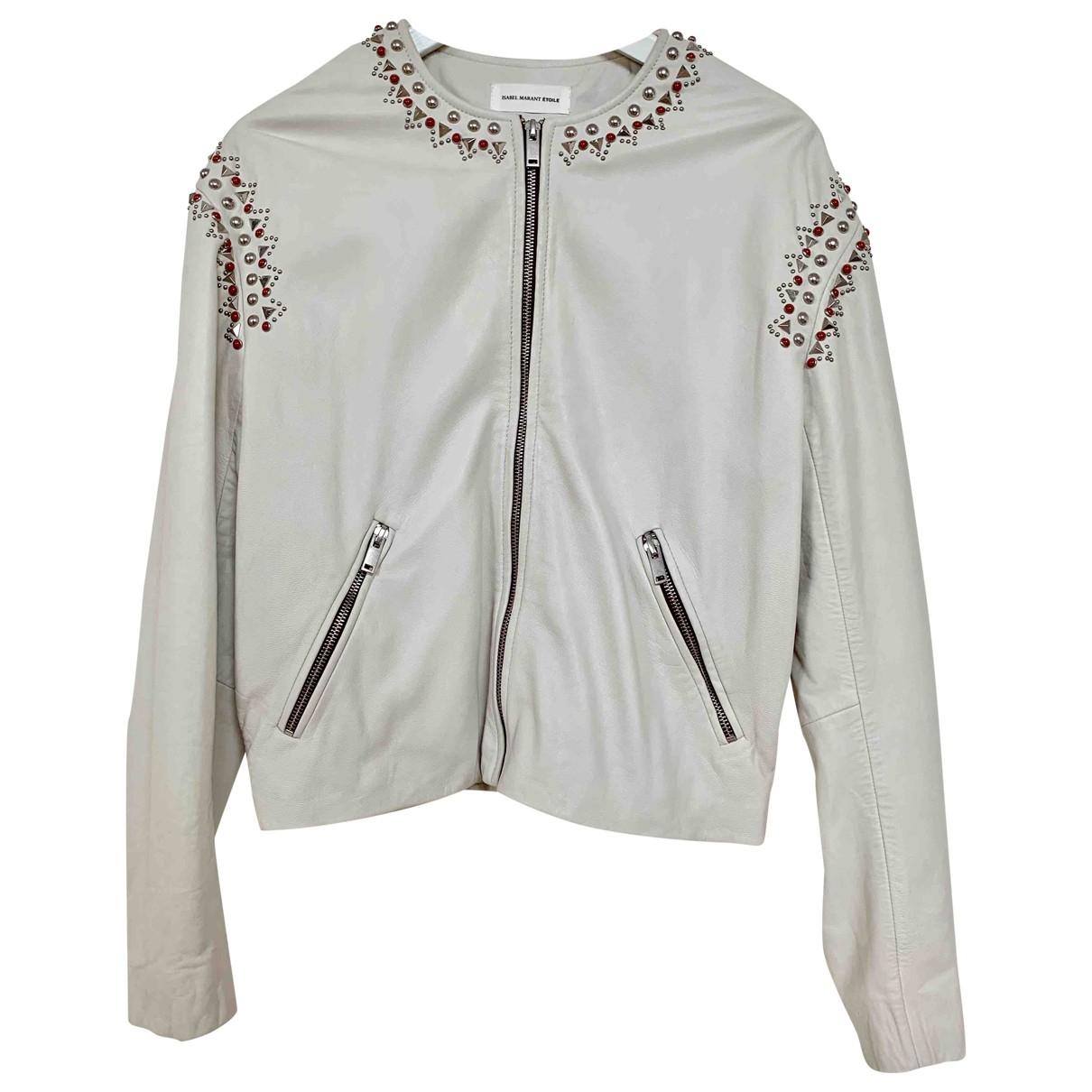Isabel Marant Etoile \N Ecru Leather jacket for Women 36 FR