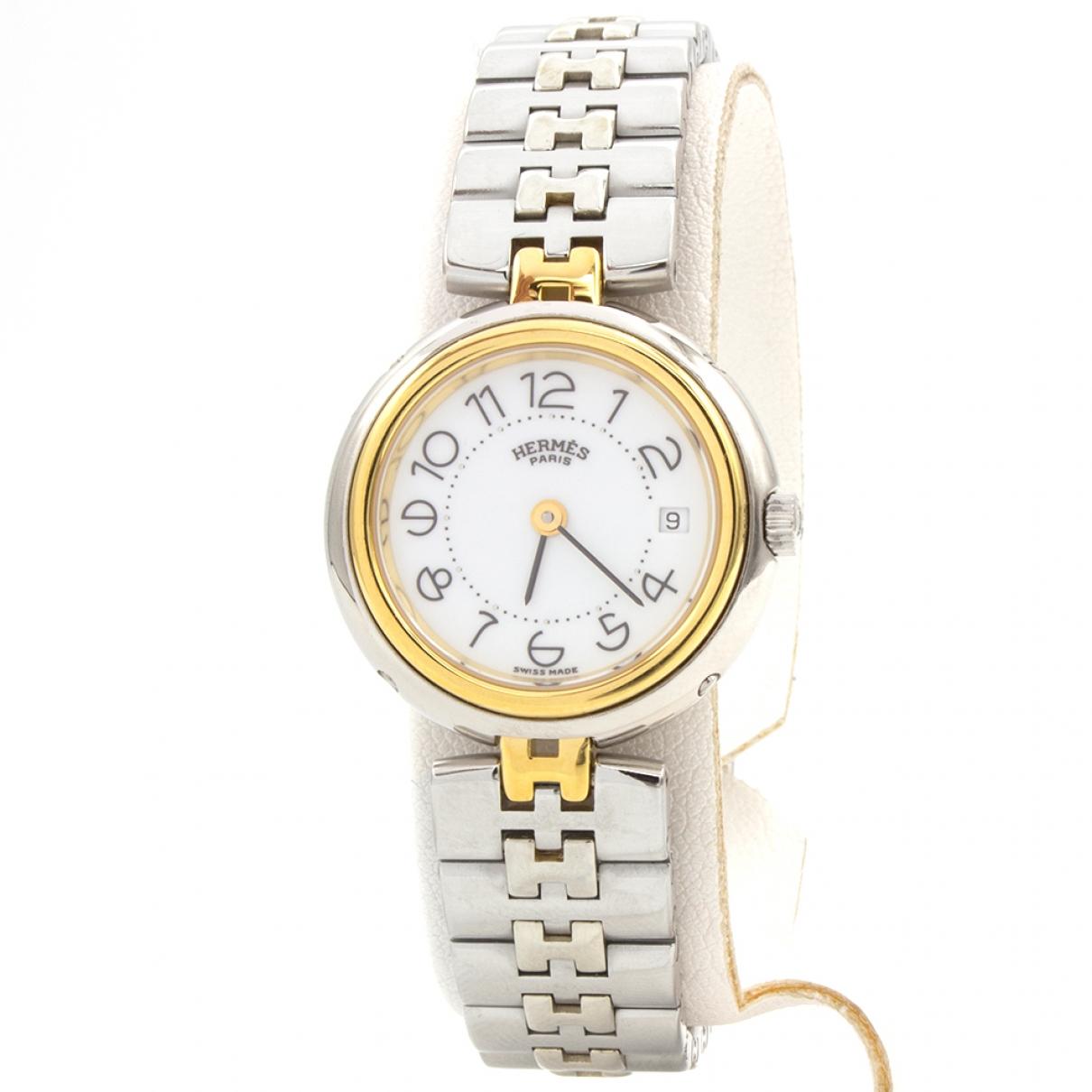 Hermes Clipper Uhr in  Gold Vergoldet