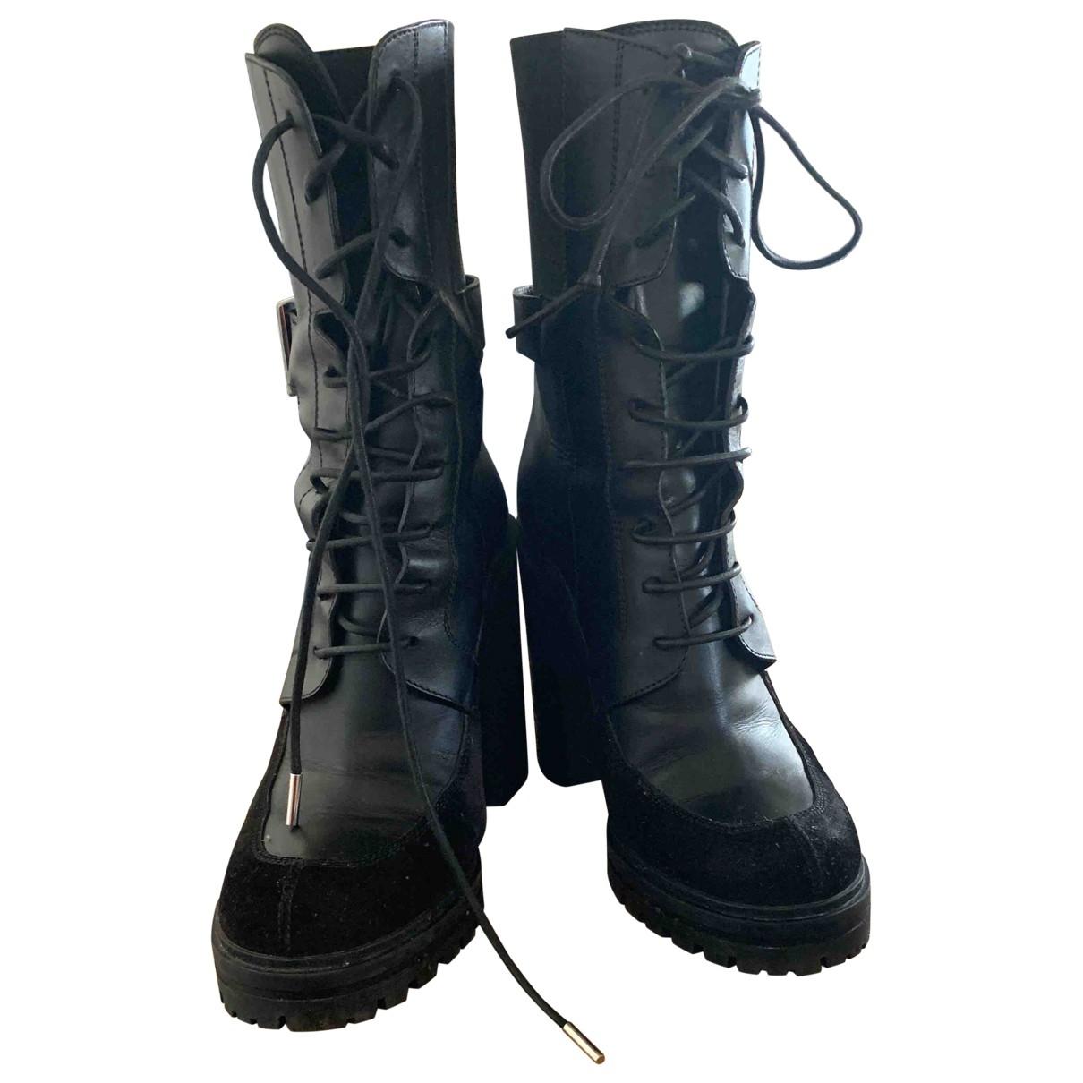 Givenchy X Tiger - Boots   pour femme en cuir - noir