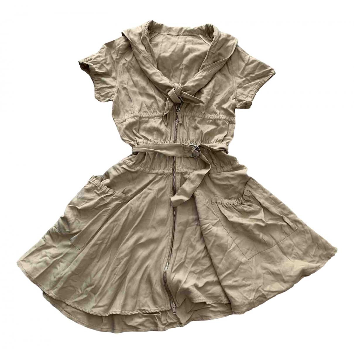 Jean Paul Gaultier \N Kleid in  Beige Viskose