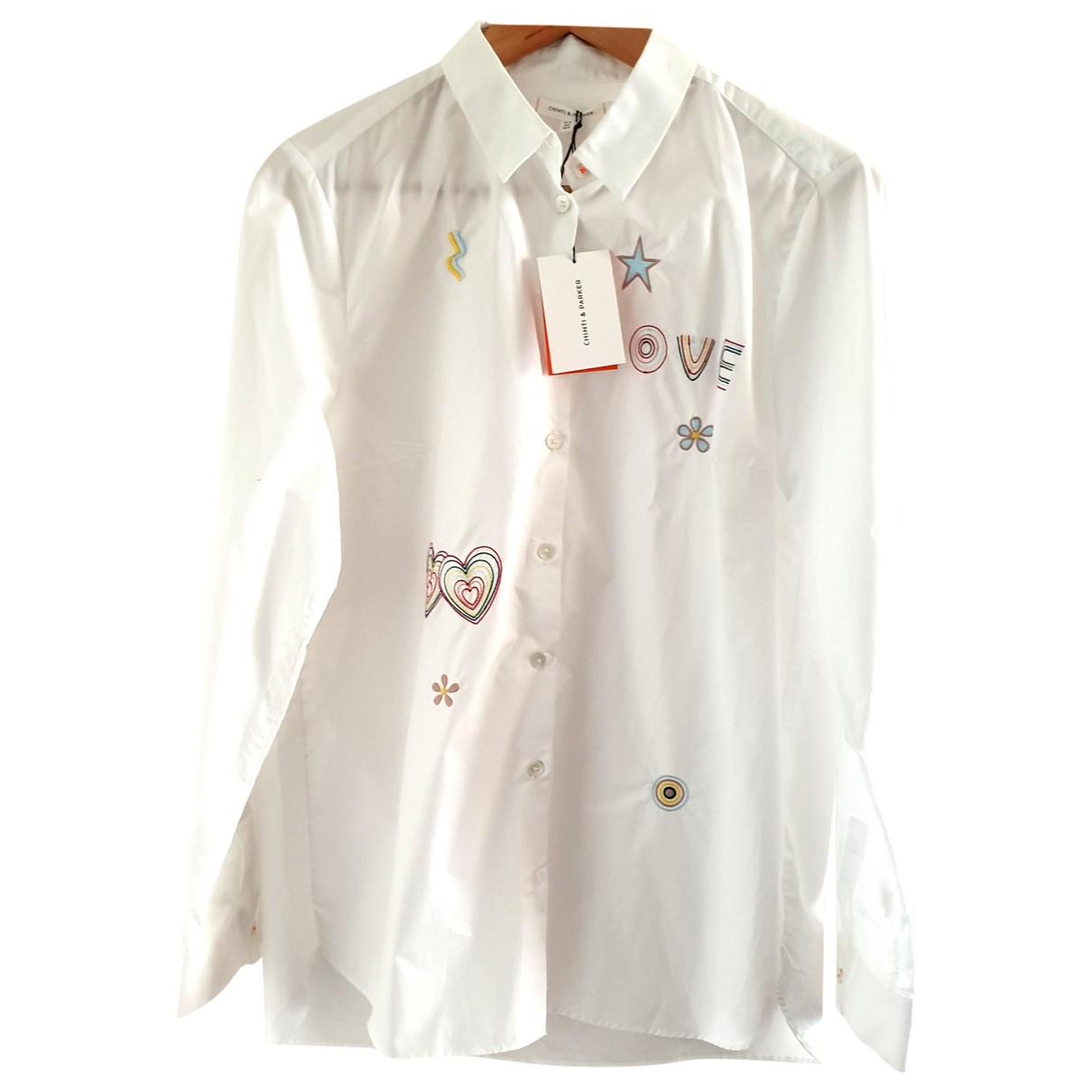 Chinti & Parker - Top   pour femme en coton - blanc