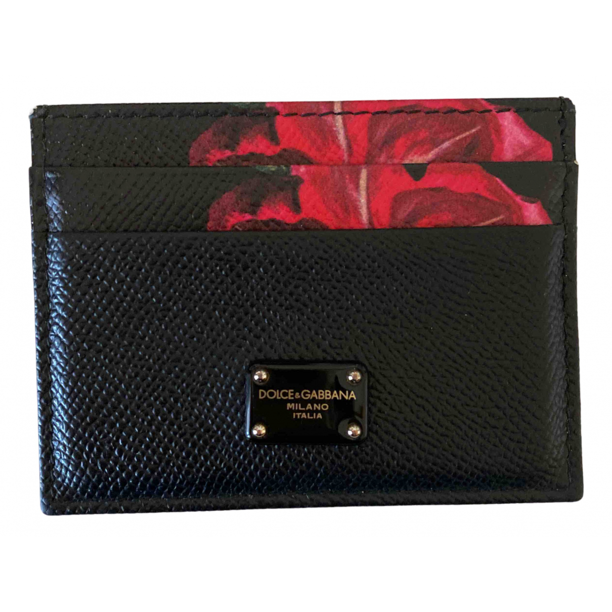Dolce & Gabbana \N Black Leather Purses, wallet & cases for Women \N