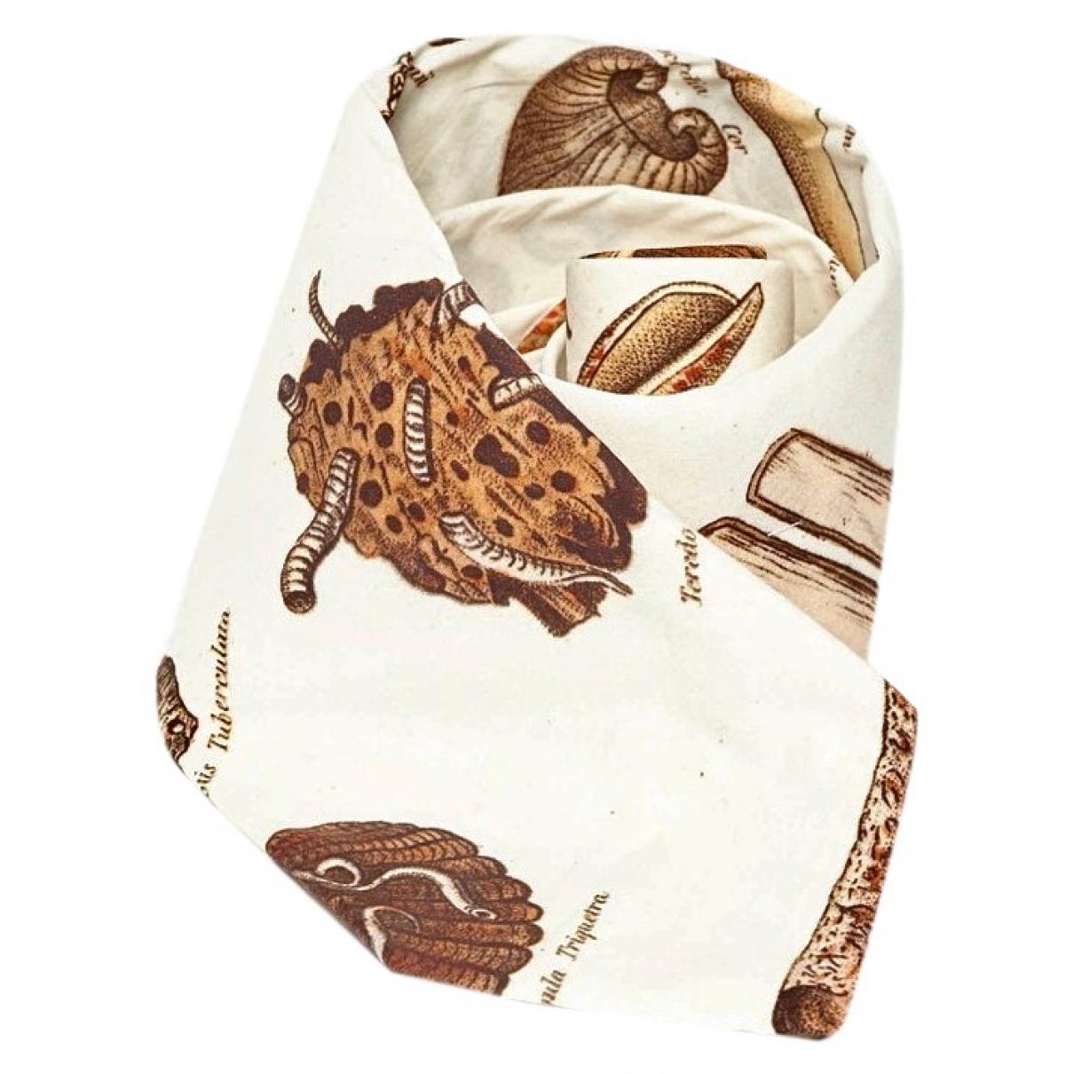 Paul Harnden Shoemakers \N Beige Cotton Ties for Men \N