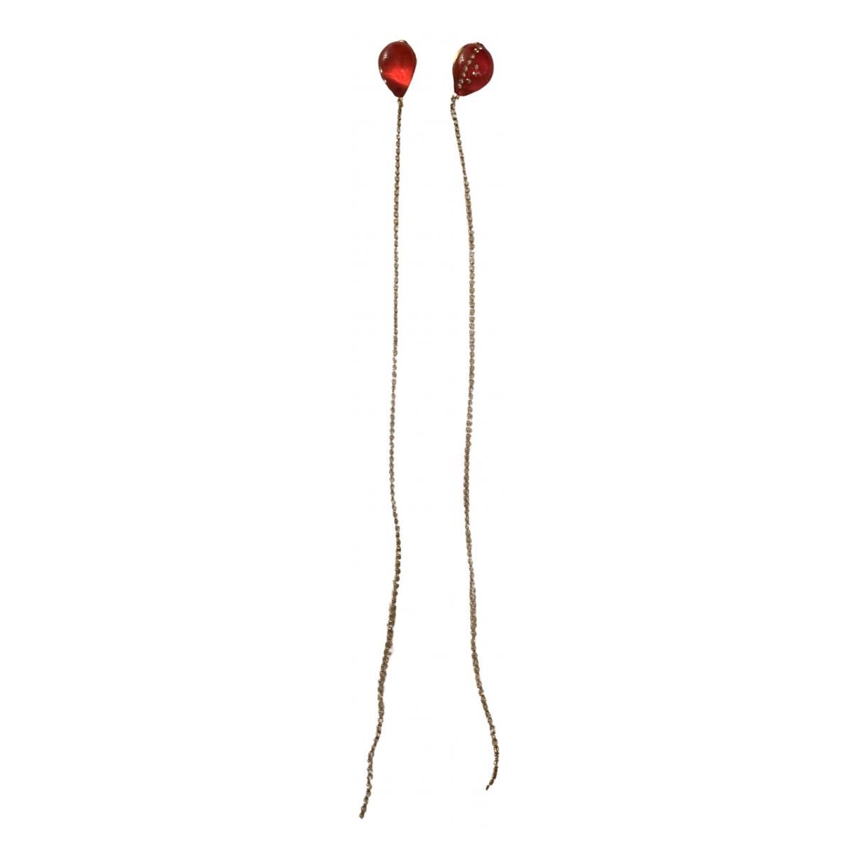 Christopher Kane - Boucles doreilles   pour femme en metal - rouge