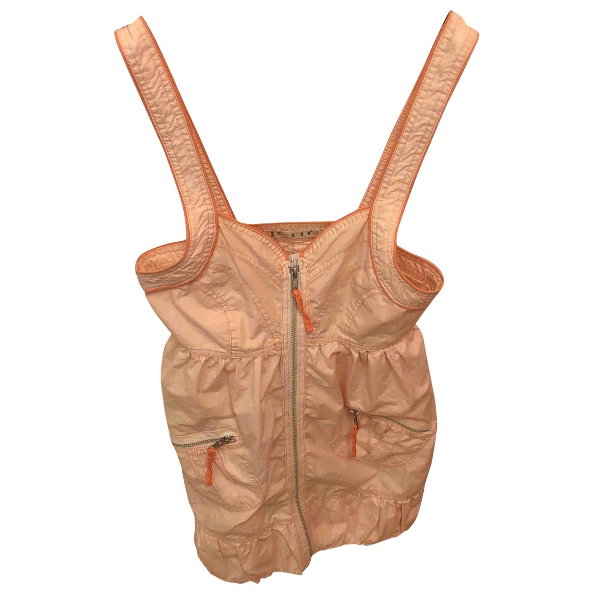 Ichi \N Kleid in  Orange Baumwolle