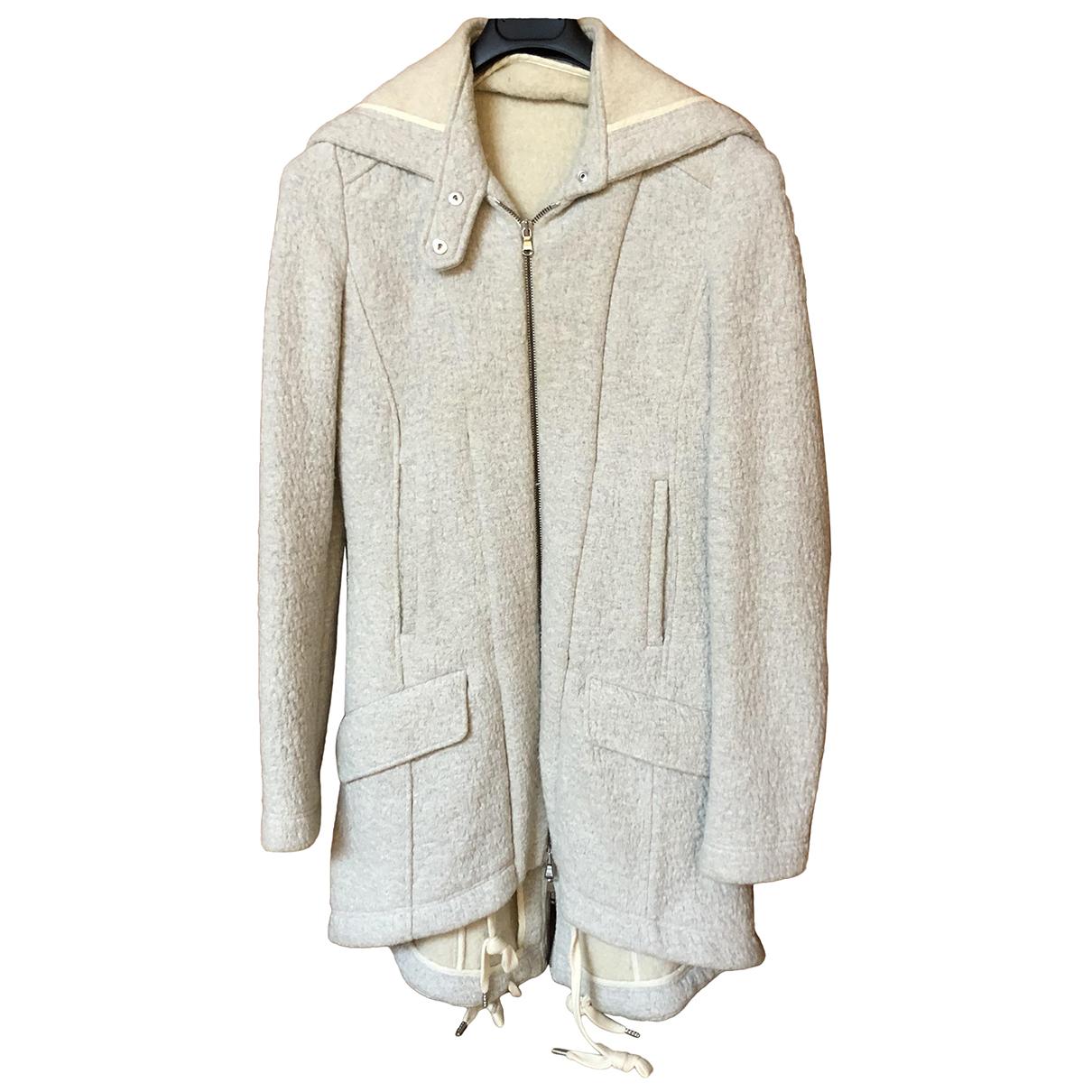 Patrizia Pepe N White Cotton coat for Women 42 IT