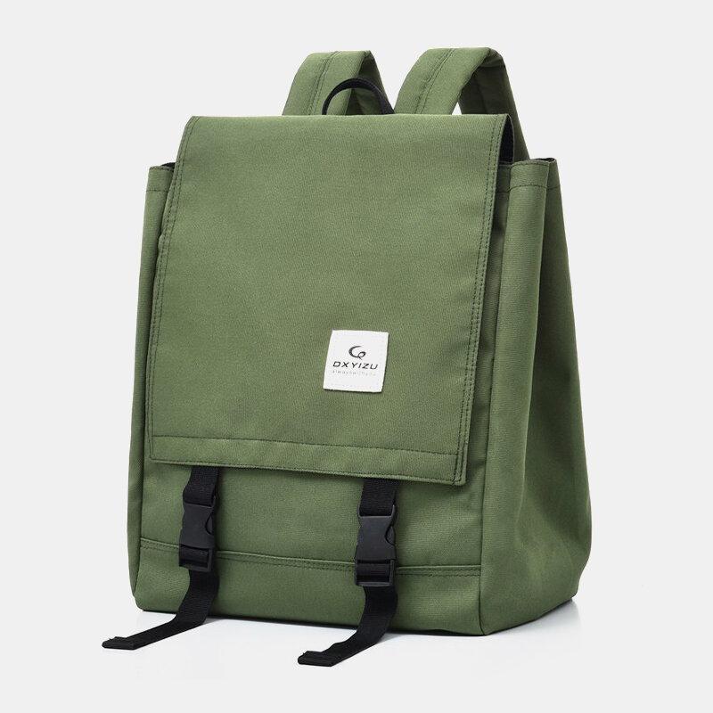 Men Nylon Waterproof 14 Inch Laptop Large Capacity Backpack