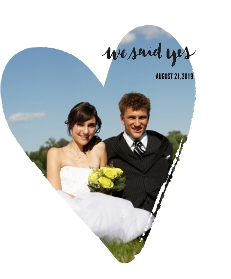Wedding Framed Canvas Print, Black, 16x20, Home Décor -We Said Yes