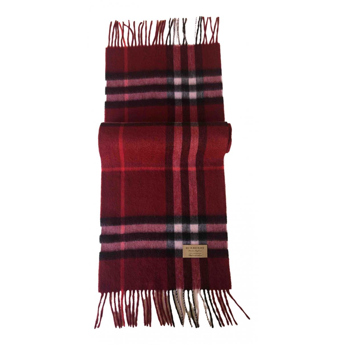 Burberry \N Burgundy Cashmere scarf for Women \N