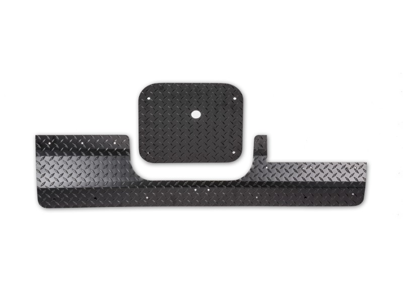 Warrior Products S3930 Lower Tailgate Cover Smooth Black Toyota FJ Cruiser 07-14