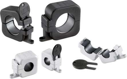 Wurth Elektronik Openable Ferrite Sleeve with key, 40 x 20 x 30mm, For Computer Data and Power Cable, Mounting on (80)
