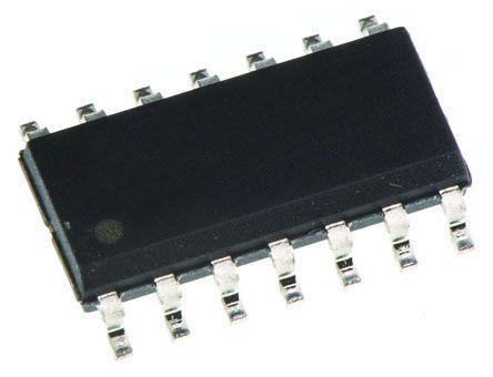 Texas Instruments SN74LVC07ADR Hex-Channel Buffer & Line Driver, Open Drain, 14-Pin SOIC (10)