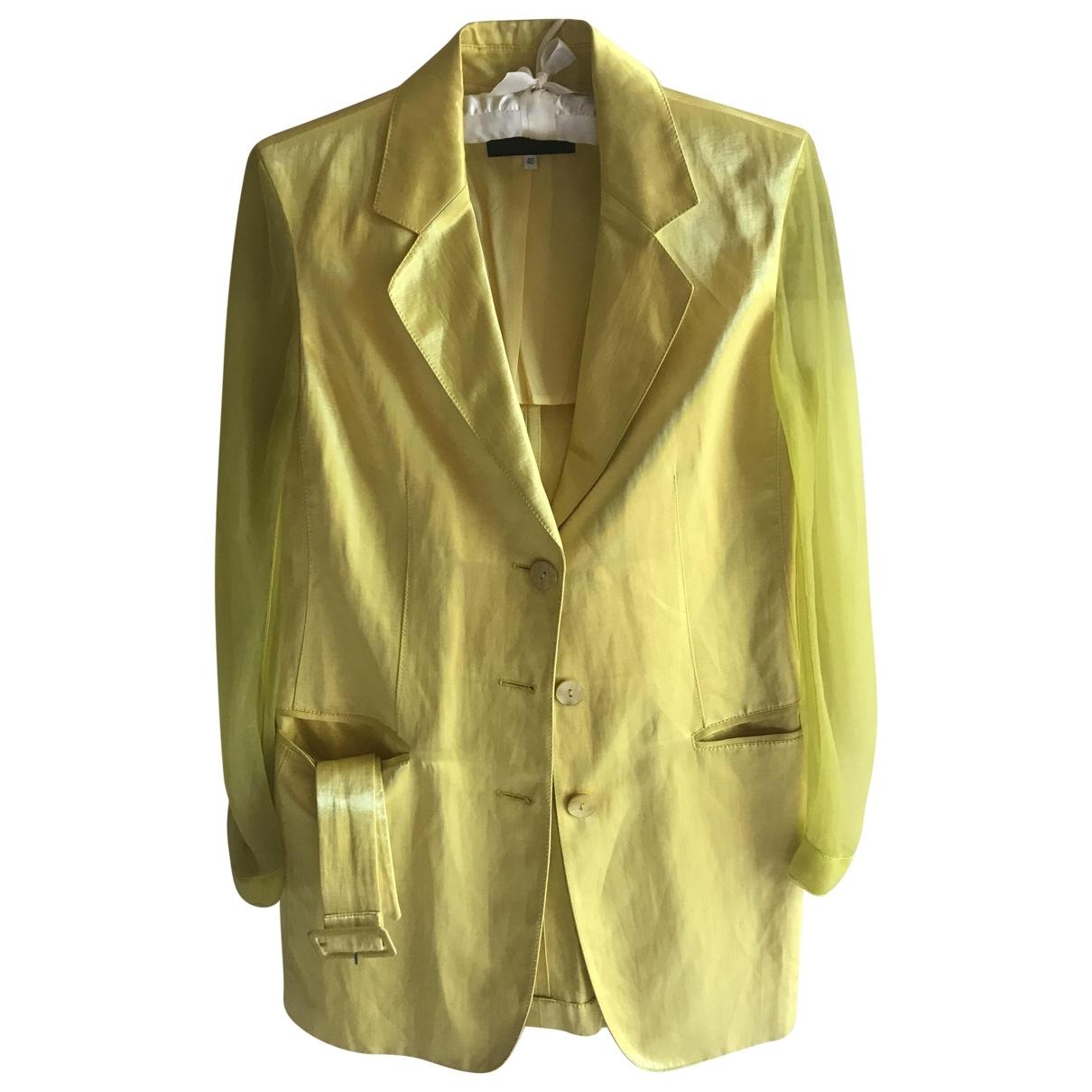 Iceberg \N Yellow Linen jacket for Women 40 IT