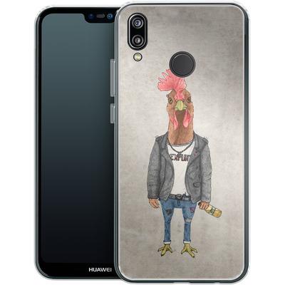 Huawei P20 Lite Silikon Handyhuelle - Punk Rooster von Barruf