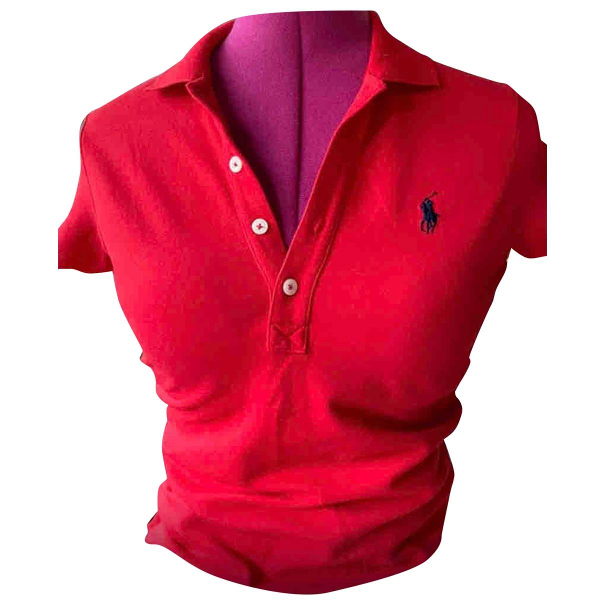 Polo Ralph Lauren N Red Cotton  top for Women 8 UK