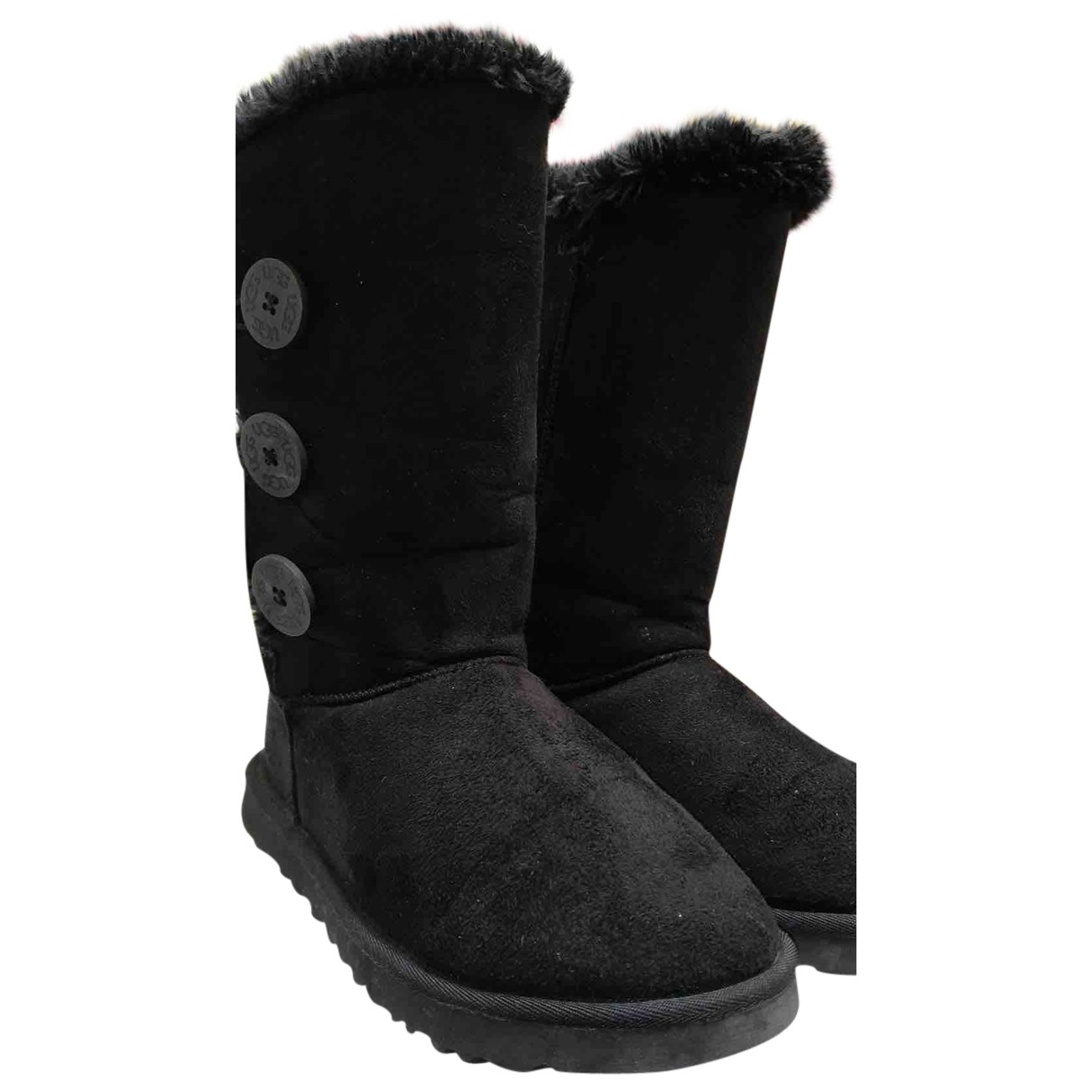 Ugg N Black Leather Boots for Women 39 EU