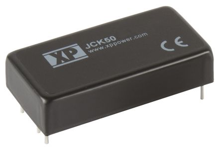 XP Power JCK50 50W Isolated DC-DC Converter Through Hole, Voltage in 36 → 75 V dc, Voltage out 5V dc
