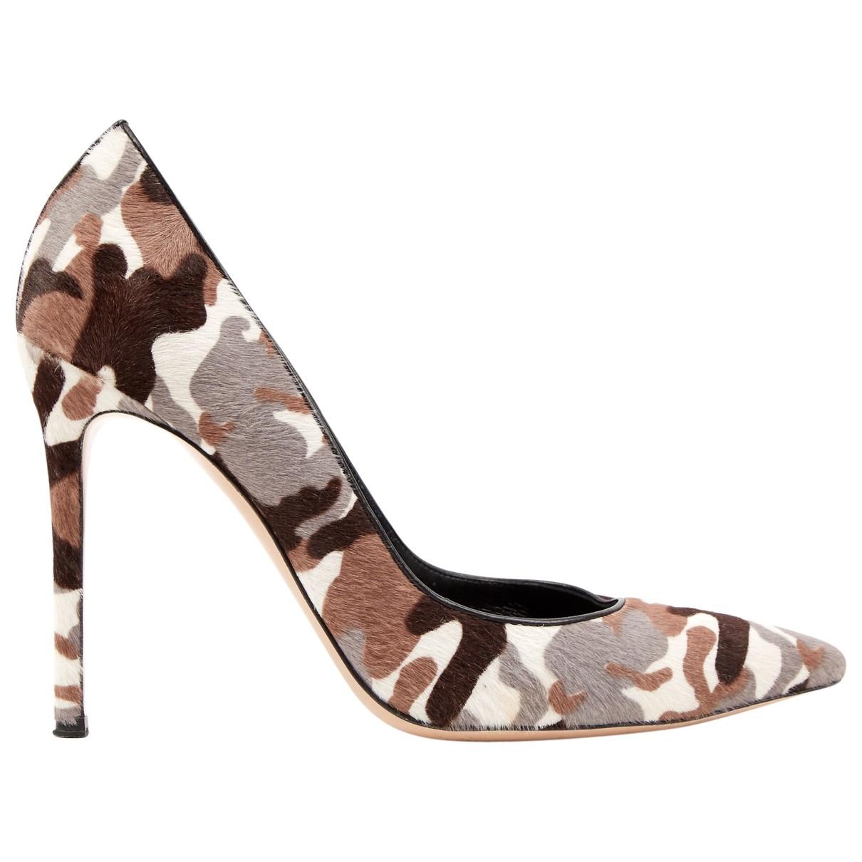 Gianvito Rossi \N Brown Pony-style calfskin Heels for Women 40 EU