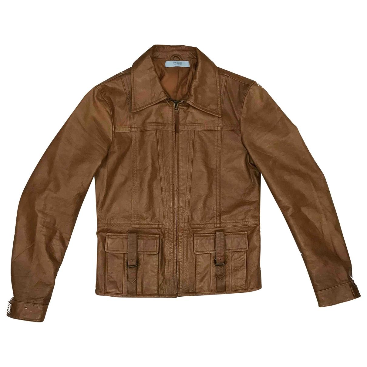 Red Valentino Garavani - Vestes.Blousons   pour homme en cuir - marron