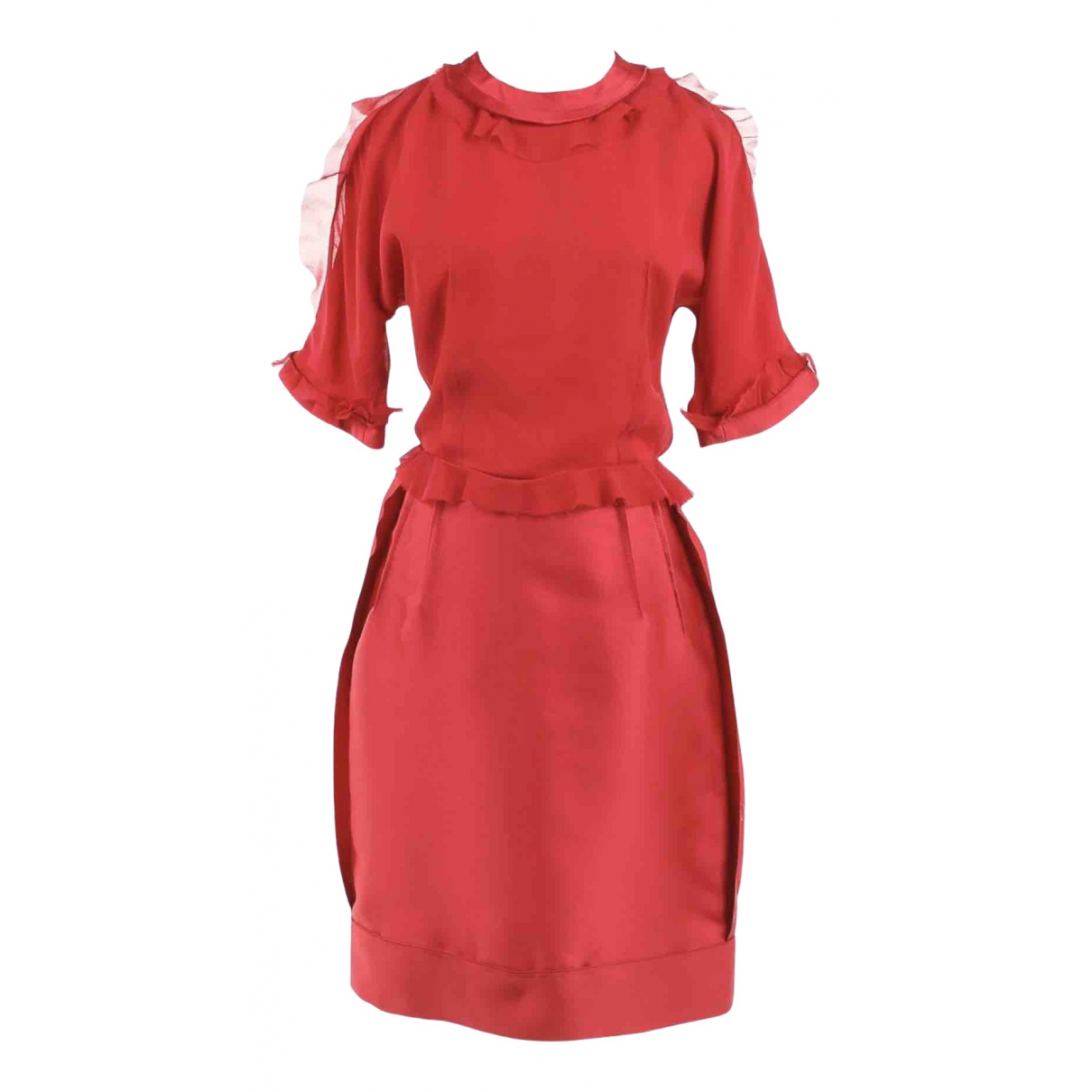 Lanvin \N Red Silk dress for Women 40 FR