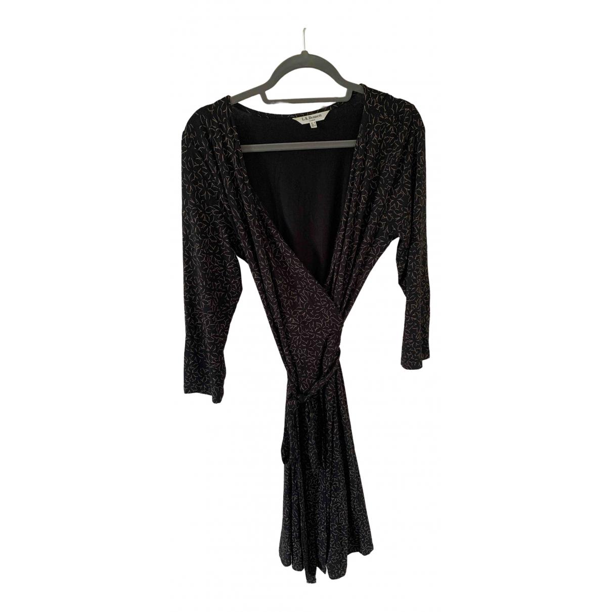 Lk Bennett \N Kleid in  Schwarz Viskose