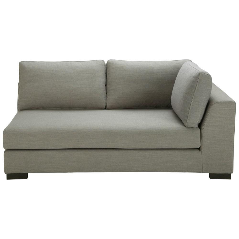 Modulares Sofa, Armlehne rechts, hellgrau Terence