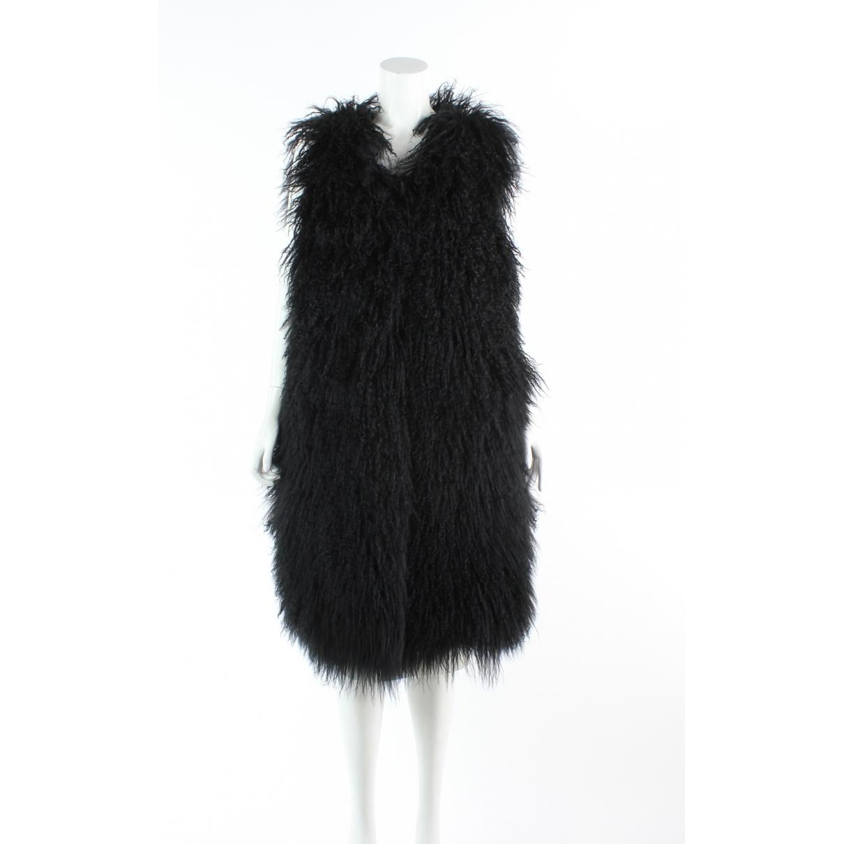Diane Von Furstenberg - Pull   pour femme en fourrure - noir
