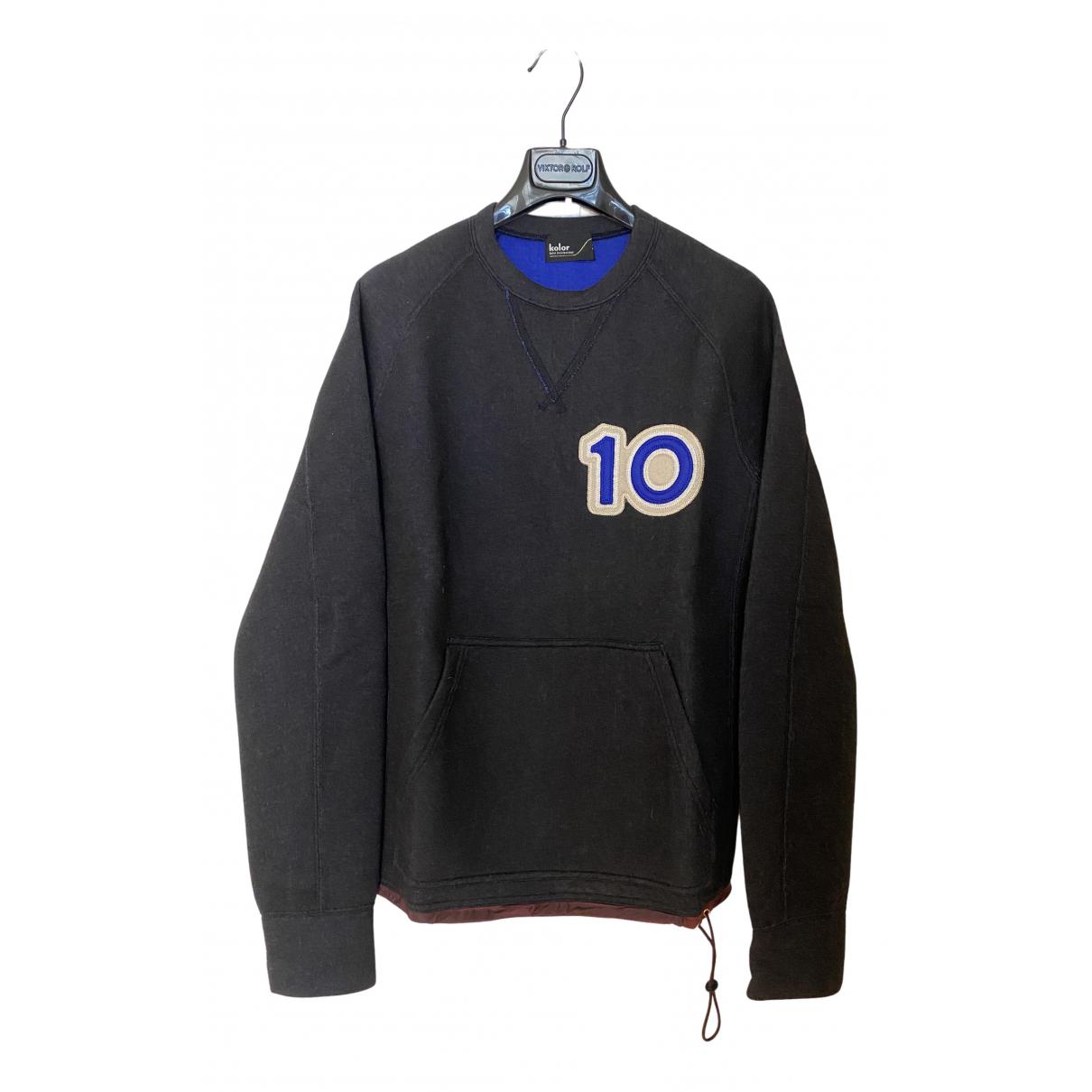 Kolor \N Pullover.Westen.Sweatshirts  in  Schwarz Synthetik