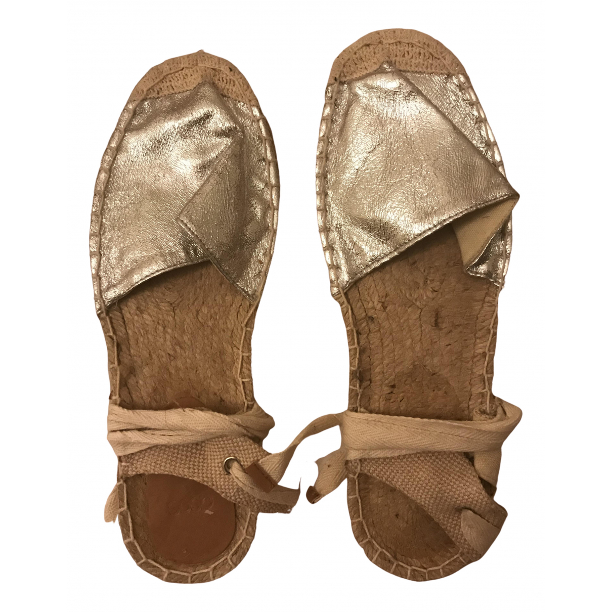 Non Signe / Unsigned \N Espadrilles in  Silber Polyester