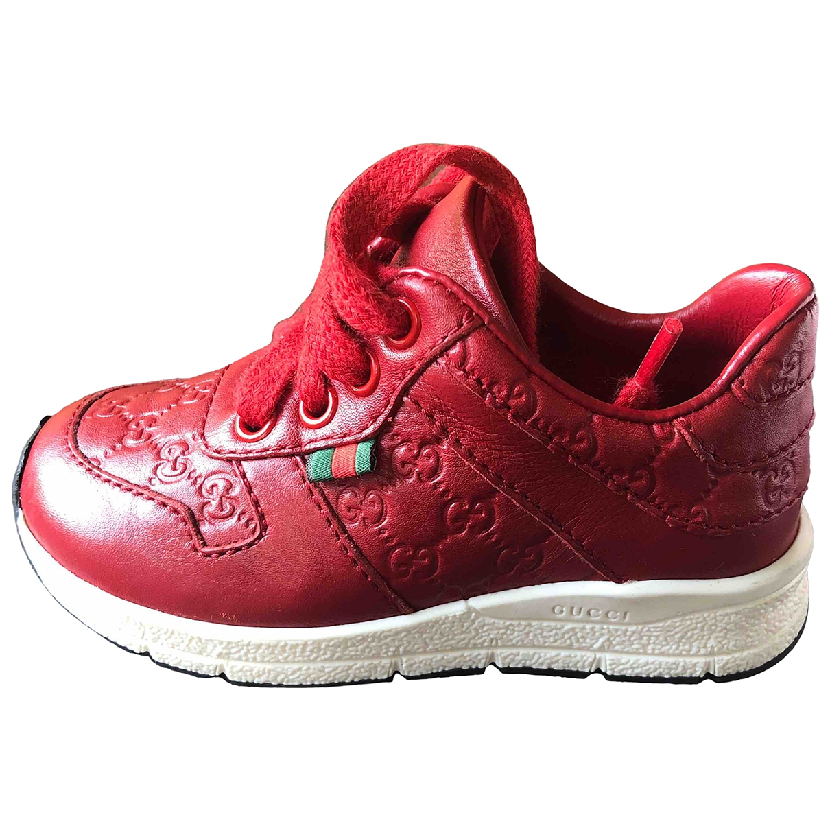 Gucci \N Red Leather Trainers for Kids 20 EU