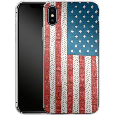 Apple iPhone X Silikon Handyhuelle - USA von Bianca Green